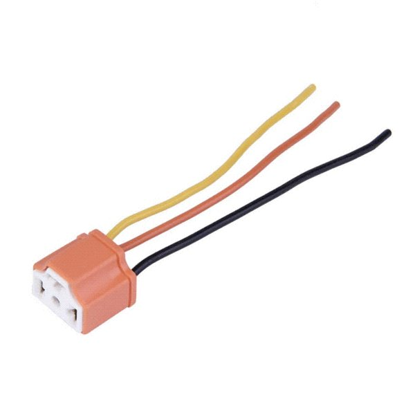 New H4 9003 Car Truck Female Ceramic Headlight Extension Connector Plug Light Lamp Bulb Wire Socket Adapter 12V Free Shipping