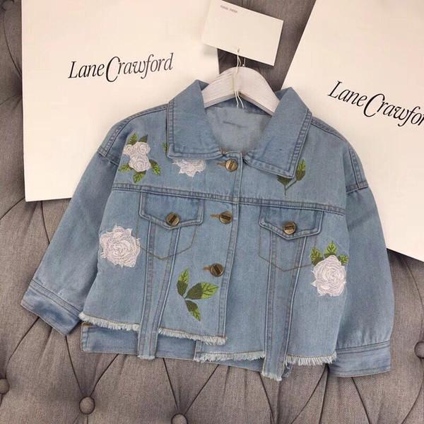 Baby Girls Denim Coats Vintage Jeans Jackets For Girl