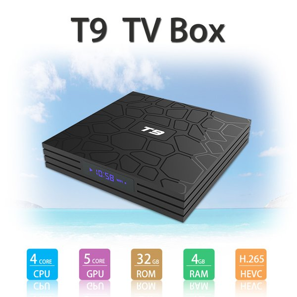 HOT T9 TV BOX 4 GB 32 GB RK3328 4K Quad Core Android 8.1 TV BOX WIFI USB 3.0 Media Player