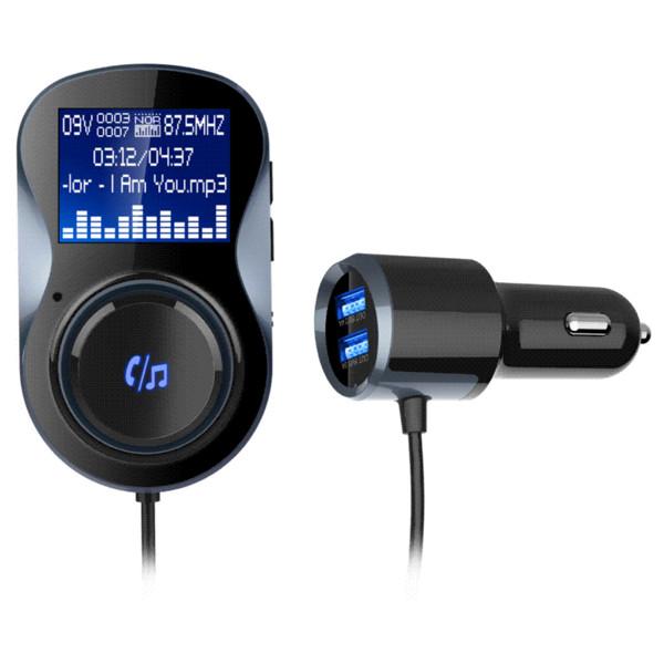 BC30 Smart Car Charger Bluetooth Transmisor FM Soporte TF Tarjeta USB Flash Disk Funciones Bluetooth al por mayor
