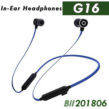 G16 fones de ouvido sem fio bluetooth esportes correndo fones de ouvido neckband earbuds com microfone para iphone x xs max samsung com caixa de varejo 60 pcs dhl