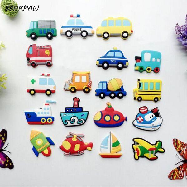 8Pcs/set Hot Sale European Style Decoration Fashion Car Aircraft Ship Refrigerator Magnet Kids' Cartoon Fridge Magnetic Sticker