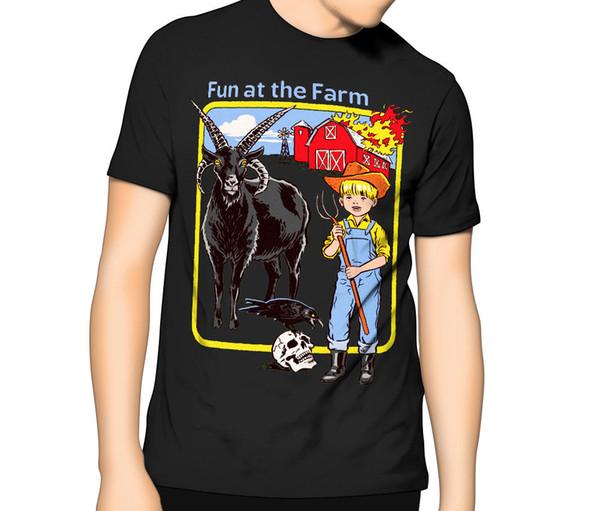 Diversão na Farm Joke 80's vintage camiseta Engraçado Mórbido