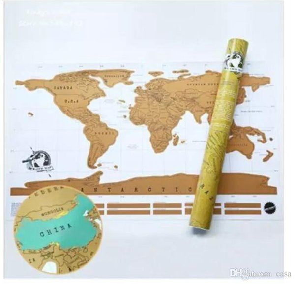 8852cm new vintage travel world scratch map of the world poster 8852cm new vintage travel world scratch map of the world poster deluxe scratch world gumiabroncs Images