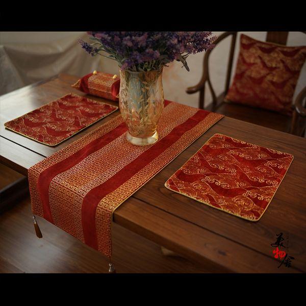 Thick 37 180cm Table Runner Europe Back Shape Stripes Wedding