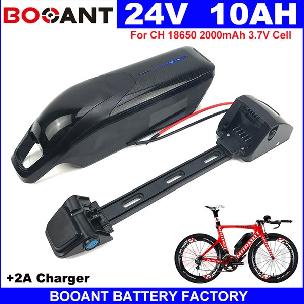 Rechargeable Electric bike Lithium battery 24V 10AH E-bike battery pack 24V For Bafang BBSHD BBS02 250W 350W Motor +2A Charger