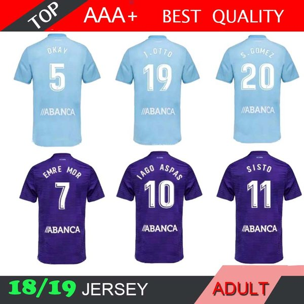 25ee51465 Celta 18 19 vigo home away football jer ey 2018 2019 emre mor iato iago a
