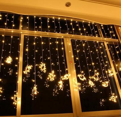 Free shipping 6M X 3m 600 Led Curtain lights String Christmas Xmas wedding 110v-250v Holiday light AU EU US UK Plug