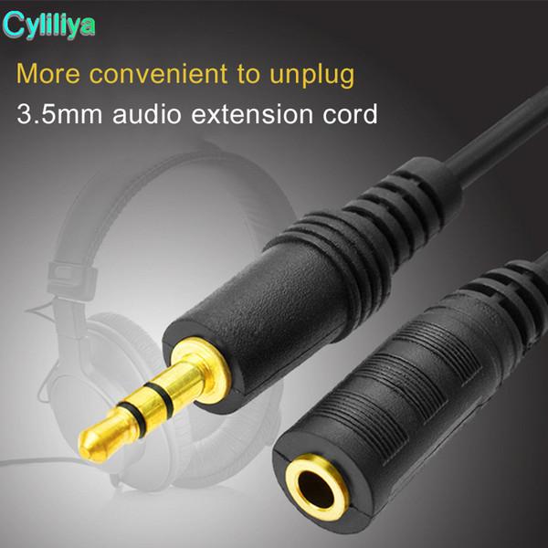 3.5 mm aux Jack mâle à femelle Extension Audio or Câble 50 cm 1 M 1.5 m 2 M 3 m 5 m