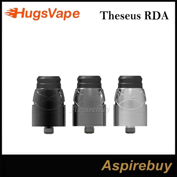 100% Original Hugsvape Theseus RDA 22mm BF Rebuildable Dripping Atomizer Single Coil Build Deck V Shaped Deck with Dot Airflow Design