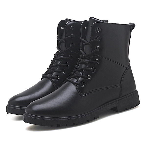 Autumn Korean fashion campus student youth new men's Martin boots British style personality with wild high-top men's shoes