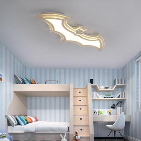 Großhandel Kreative Augenschutz Kinderzimmer Lampe Moderne Minimalistische  LED Schlafzimmer Deckenlampe Kinder Beleuchtung Fledermaus LED Licht Von ...