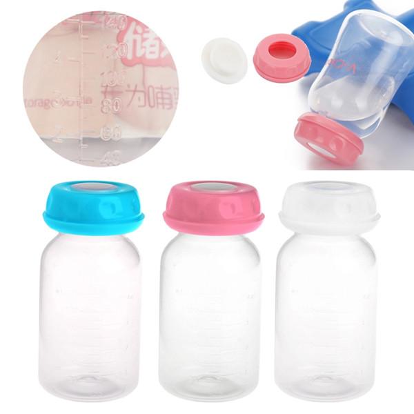 1 pc 125ML Bebé Leche Materna Taza de alimentación Bottl Almacenamiento Cuello Botella de almacenamiento amplia