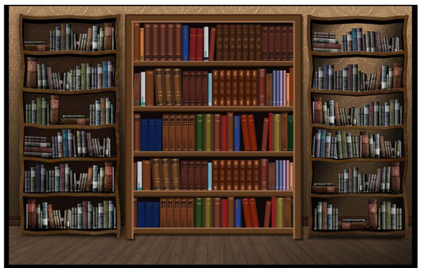 Farby, tapety i akcesoria Bookcase Library Book Shelve Wallpaper Mural Photo Home Poster DIY Decoration d