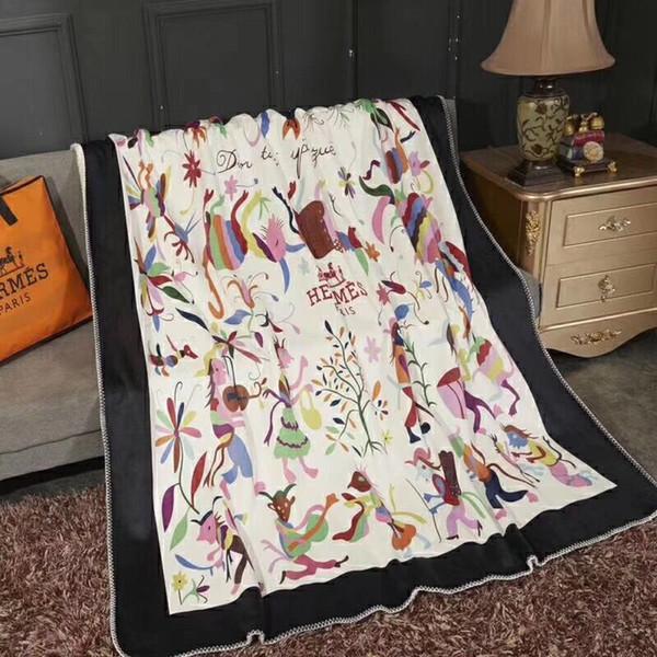Luxuxklassiker Signage H Carriage-Muster verdicken Decke weiche bequeme Microfiber Gewebebettwäsche Decke Schal Weihnachtsfamiliengeschenk