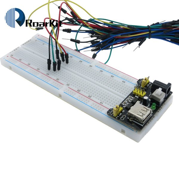 3,3 V / 5 V MB102 Breadboard power module + MB-102 830 punkte Prototyp Brot bord für arduino kit + 65 jumper drähte großhandel