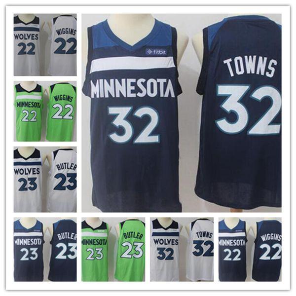 more photos b888b 2eb4f 2018 Men Minnesota Timberwolves Jersey 2018 New 22 Andrew Wiggins 23 Jimmy  Butler 32 Karl Anthony Towns Basketball Jerseys From Hj_ltd, $14.08 | ...