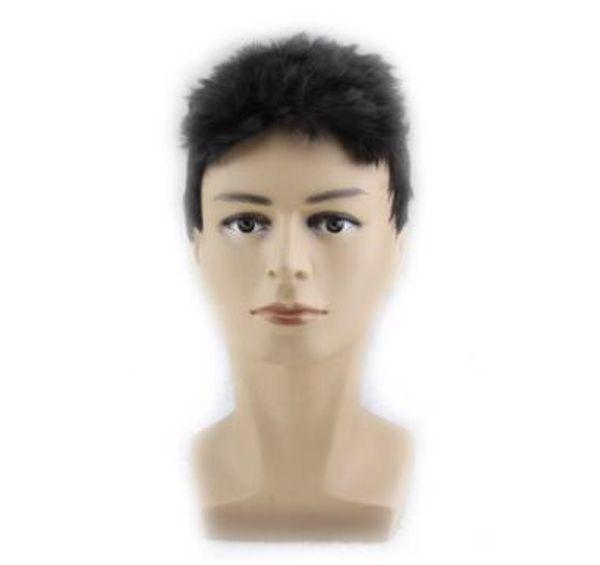 Großhandel 2018 Europäischen Und Amerikanischen Bestseller Männer Flache Kopf Perücke Jacke Super Kurze Haare Hohe Temperatur Perücke Männlichen
