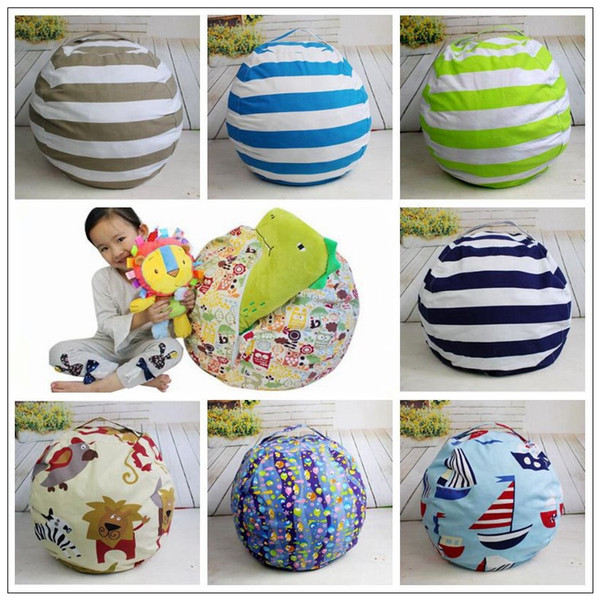 9 Colors Beanbag Chair Plush Toys Storage Bean Bags Kids Bedroom Play Mats Portable Couch Cushion Creative Clothes Storage Bag CCA8927 20pcs