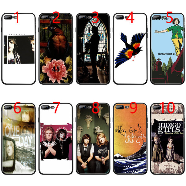 Indigo Girls Soft Black TPU Phone Case for iPhone XS Max XR 6 6s 7 8 Plus 5 5s SE Cover