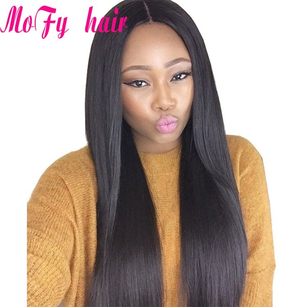 Brazilian Remy Hair Straight 3 Pcs /Lot Peruvian Malaysian Indian Straight Hair Weaves Unprocessed Cheap Hair Extensions Natural Color 1B
