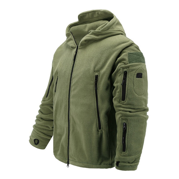Fleece Softshell Jacket Military Tactical Man Polartec Thermal Polar Hooded Outerwear Coat Army Clothing Y1893006