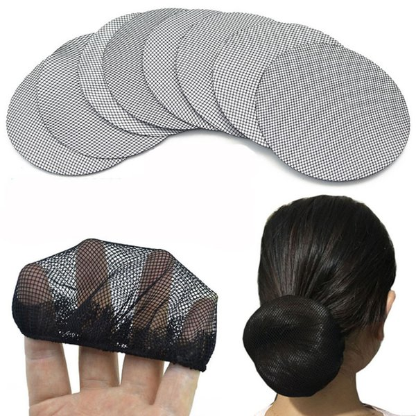 Fruling Menina 1 Peça New Hight Nylon Elástico Hairnets Cor Preta Invisível Baixo Elastic Cabelo Redes com Cabelo Rendas Bun Titular