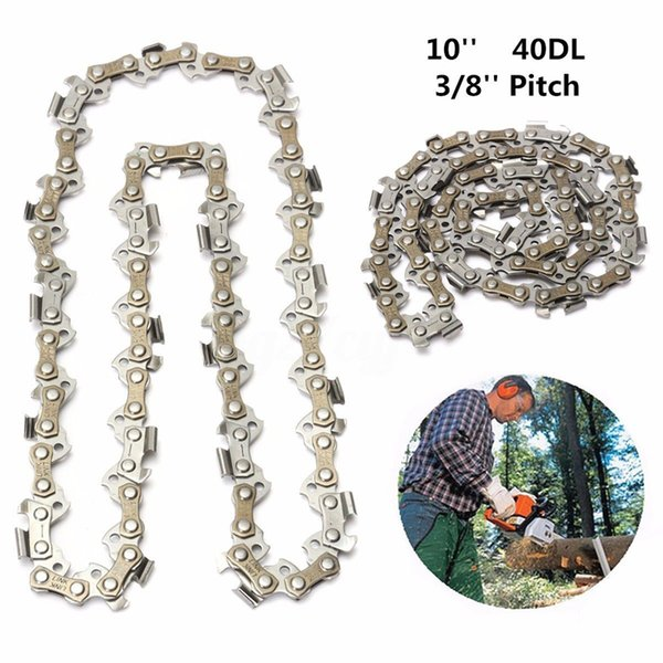 10 inch Chainsaw Mill Saw Chain 40DL Drive Links 3/8 inch Pitch Replacement Chain Blade for Wood Cutting Saw Chain Garden Tools