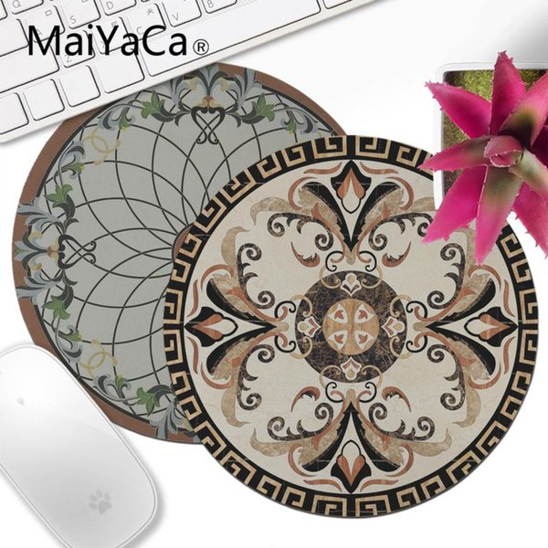 MaiYaCa Art Tile Patterns Floral Decor Marble Laptop Computer Mousepad gamer Decorate Your Desk Non-Skid Rubber mouse pad anime