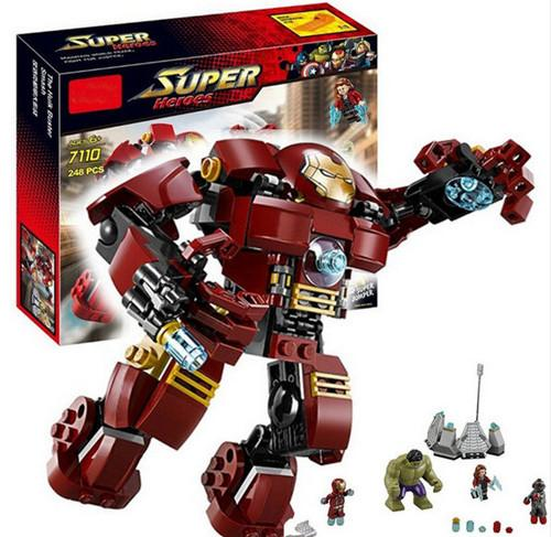 Compatible With legoe Marvel Super Heroes Avengers Building Blocks Ultron Figures Iron Man Hulk Buster Bricks Toys