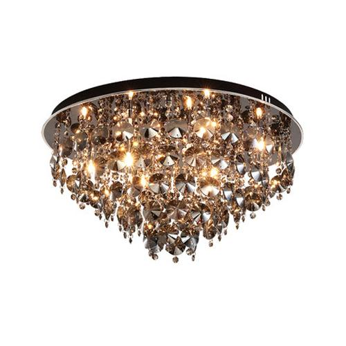 Modern new design crystal ceiling chandeliers lamps round black luxury led ceiling chandelier lights ceiling lighting fixtures for bedrooms