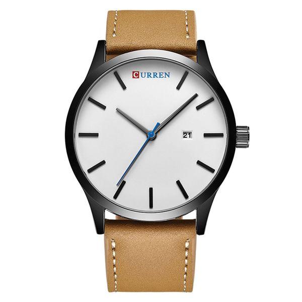 CURREN 8214 Watch Men Top  Leather Quartz Wristwatch Simple Men's Business Dress Watches Clock