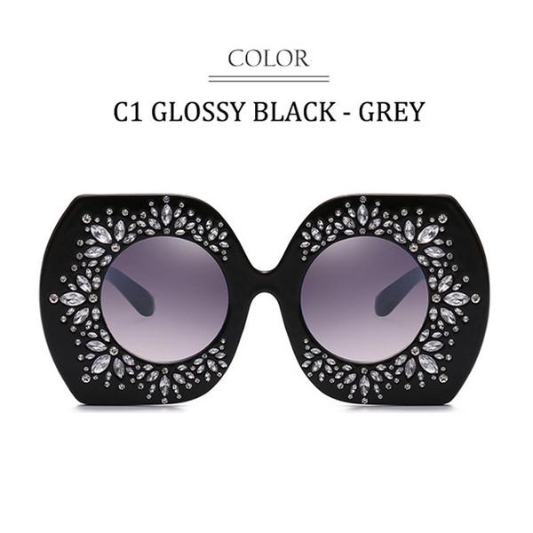 C1 Glossy Black Frame Gradient Grau
