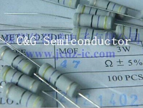 20pcs 3W 22 ohm 5% Resistors 3 w 3 WATT 22R Carbon Film Resistor ( 47R 1K 10K 47K