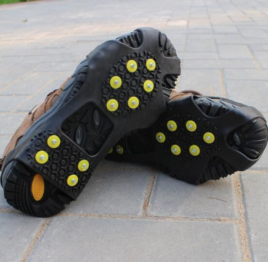 10 teeth crampons non-slip shoe covers 2018 hot outdoor climbing snow anti-skid shoe covers non-slip shoe chain