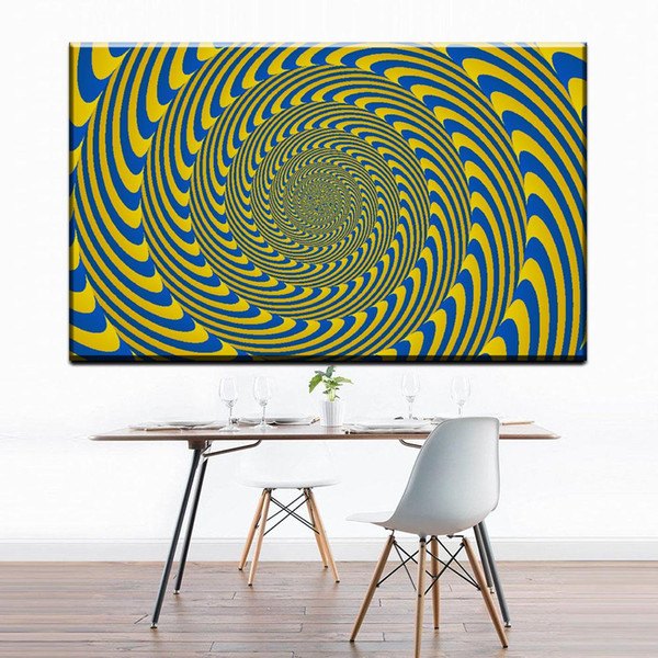 1 Panel Modern Abstract Art Canvas Posters Prints Geometric Shapes On Canvas Wall Picture For Living Room Home Decor No Frame