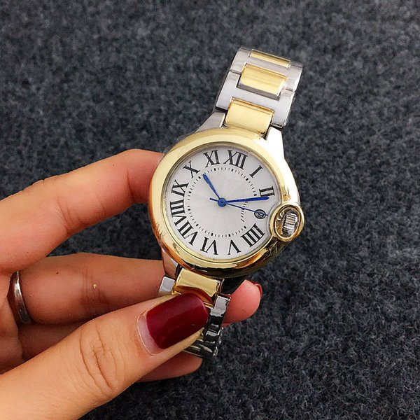 2018 AAA New Hot Fashion Casual Women Watch High quality high quality stainless steel leather strap business quartz watch. Woman dress watch