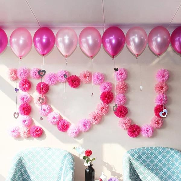 10 15 20 25 30cm Wedding Decoration Pom Pom Tissue Paper Pompom Artificial Flowers Baby Shower Birthday Party Decorations