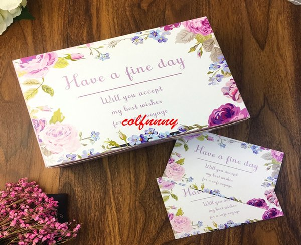 300 flower have a fine day wedding gift box large  carton paper boxes,6 cupcake cookie chocolate cake packaging box f052302