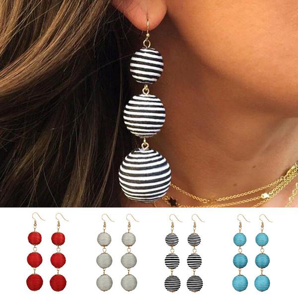 Fashion Neon Long Tassel Earrings for Women Fringe Earrings Stacked Tassels Dangle Earrings Fringing jewelry drop shipping
