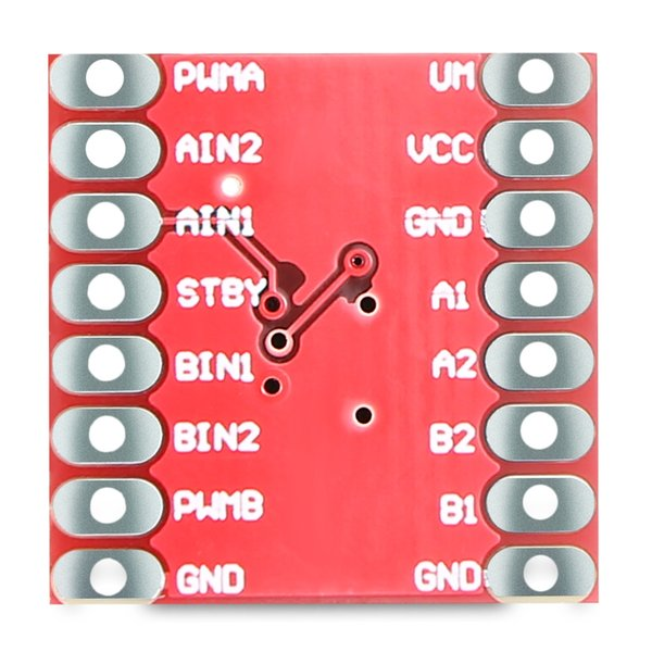 TB6612FNG Dual Motor Drive Controller Board Module with Pin Header Built-in thermal shutdown circuit and low voltage detection circuit