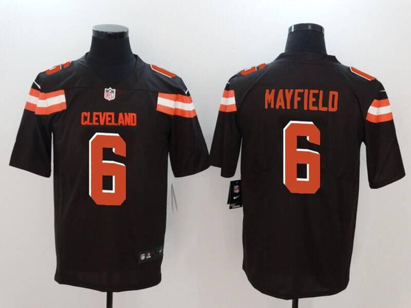 premium selection fc435 173bb 2018 2019 Baker Mayfield Jersey Cleveland Browns Jarvis Landry Myles  Garrett White Orange Team Color Football Jersey Athletic Outdoor Apparel  From ...