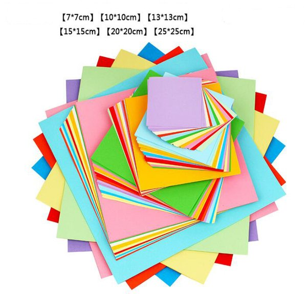 best selling More Size Mixed Colorful 70gsm Origami Paper Double Sided Folding Paper Square Kraft Papers Kids DIY Handmade Paper Craft