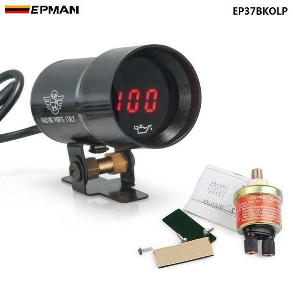 best selling EPMAN - - 37mm meter   gauge MICRO DIGITAL SMOKED OIL PRESSURE GAUGE UNIVERSAL 4-6-8 CYLINDER ENGINES Black Purple EP37BKOLP