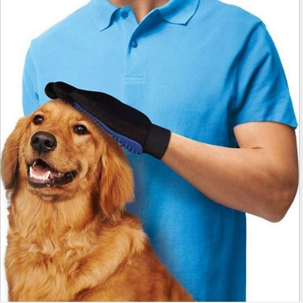 Pet Gloves Brushes Combs Cats & Dogs Cleaning Brush Remover Brush Massages Pet While Lifting and Removing Hair from Both the Under and T