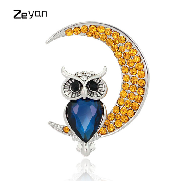 Zeyan Handmade Crystal Brooches Women Men Natural Stone Brooches Fashion Jewelry Coat Scarf Brooch Pins Accessories ZYTZ668