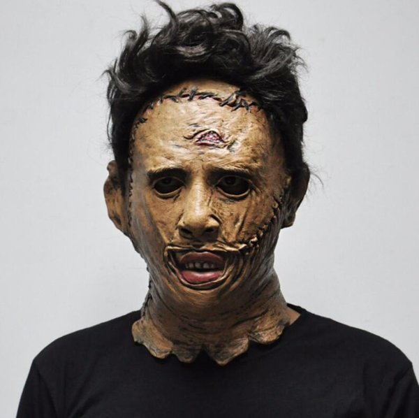 Le Texas Chainsaw Massacre Leatherface Masques Effrayant Film Cosplay Halloween Costume Props Haute Qualité Parti Fournitures Jouets