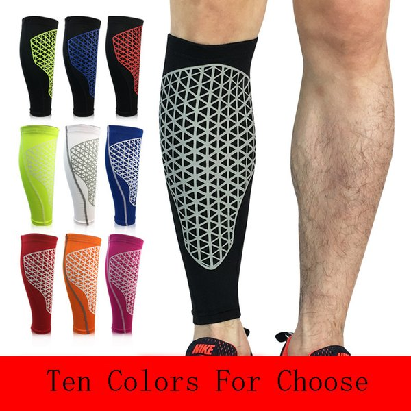 Sports Protection Calf Sleeve Breathable Knee Pads Pressure Socks Outdoor Football Riding Fixed Gear Sleeve Support FBA Drop Shipping H398F