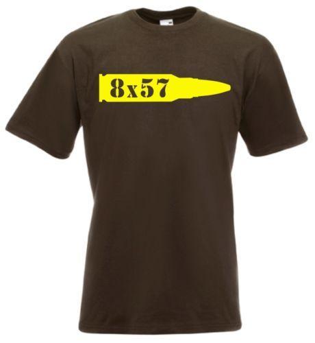 Caliber 8x57 Full Metal Jacket Vietnam Us Gi T-Shirt Sniper Shooter Cartridge Casual Funny free shipping Unisex tee gift