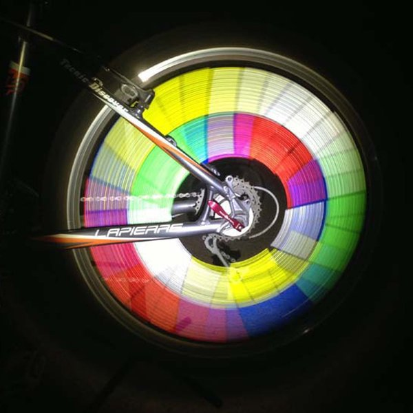 12pcs Bike Reflective Tube Clip Light Bicycle Spokes Warning Reflective Flashlight Tube Light Bike Wheel Rim Steel Bright Color